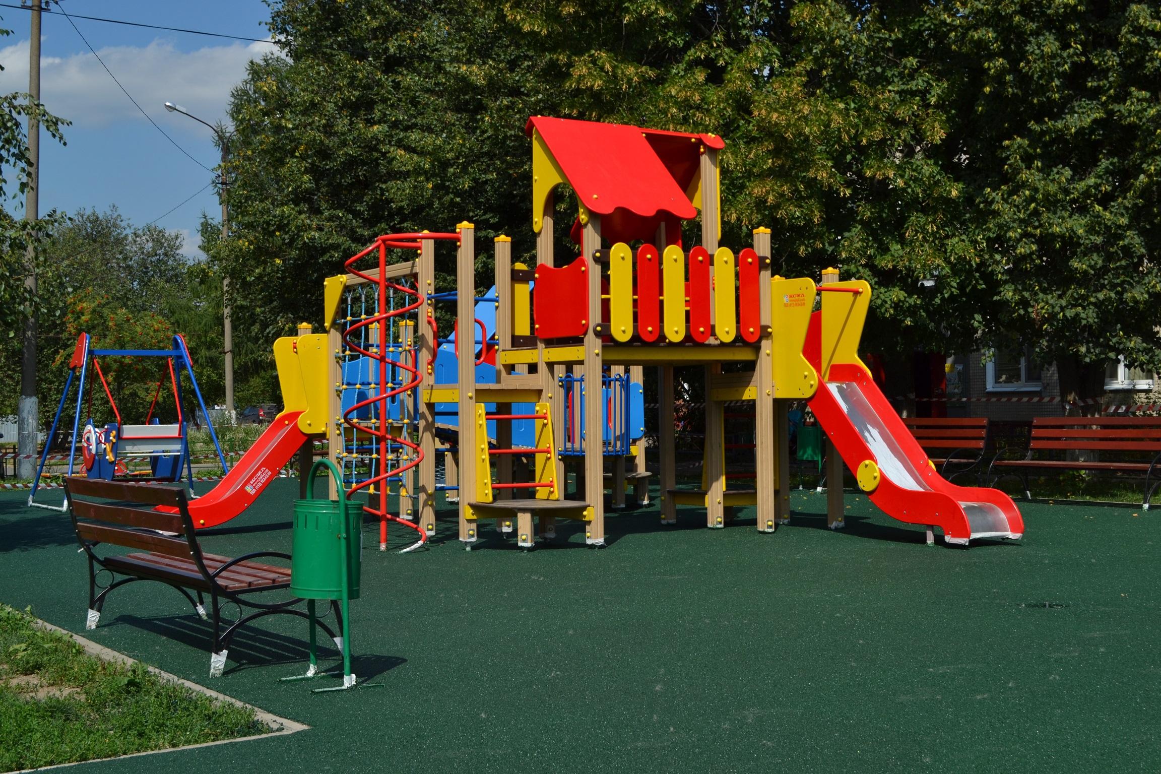Современная детская площадка картинки